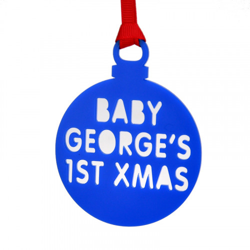 Personalised Christmas Bauble Blue