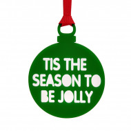 Personalised Christmas Bauble Green