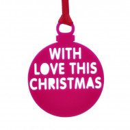 Personalised Christmas Bauble Pink