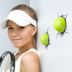 3D Tennis Ball Wall Light