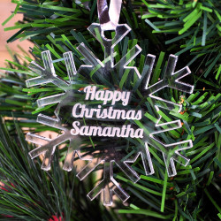 Personalised Christmas Snowflake Bauble