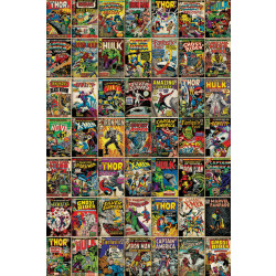 Marvel Comic Covers Framed Wall Art