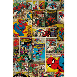 Marvel Spiderman Comic Collage Framed Wall Art