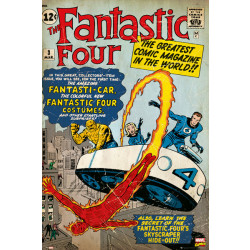 Marvel Fantastic Four Comic Cover Framed Wall Art