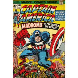 Marvel Captain America Comic Cover Framed Wall Art