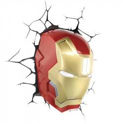 Iron Man Mask Wall 3D Light