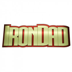 Iron Dad Mirrored Sign Front