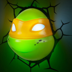 3D Teenage Mutant Ninja Turtle Michaelangelo Wall Light Boxed