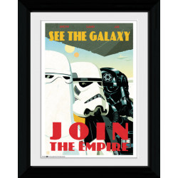 Star Wars Join The Empire Framed Collectible Propaganda Wall Art