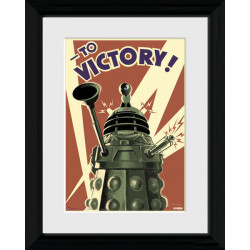 Doctor Who Dalek Framed Collectible Propaganda Art Print