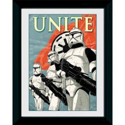Star Wars Unite Framed Collectible Propaganda Art