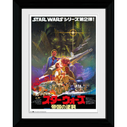 Star Wars V Japanese Framed Collectible Movie Print