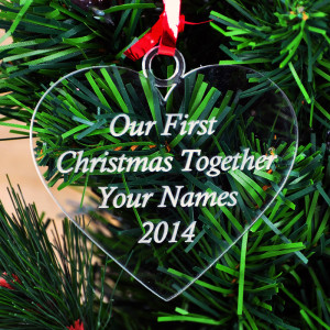 Our First Christmas Personalised Heart Bauble