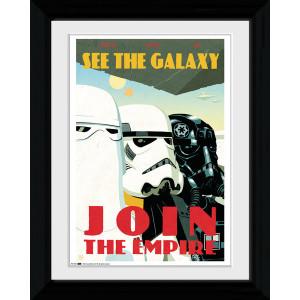 Star Wars Join The Empire Framed Collectible Propaganda Wall Art