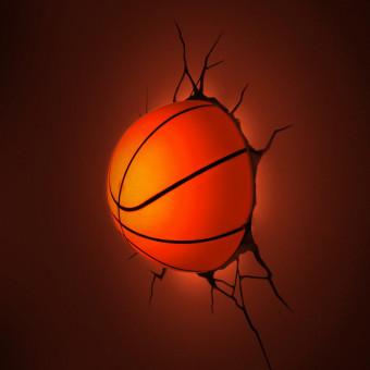 3D Basketball Wall Light