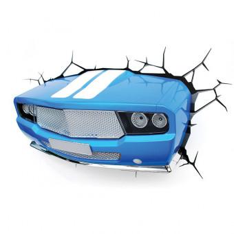 3D Blue Classic Car Wall Light