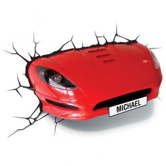 3D Red Sports Car Wall Light