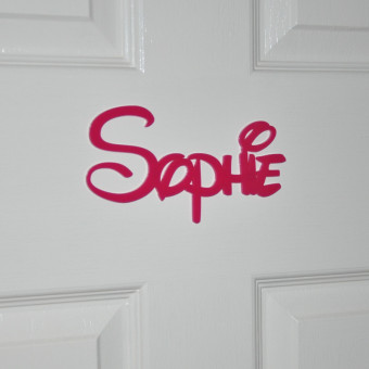 Disney Personalised Acrylic Name Plaques Pink