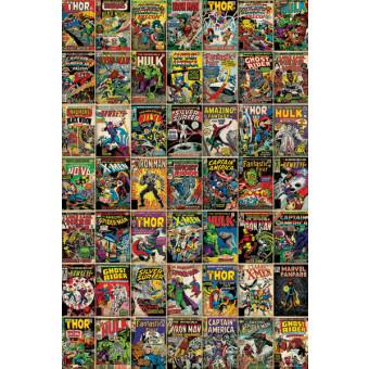 Marvel Comic Covers Framed Wall Art