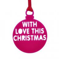 Personalised Christmas Bauble Pink